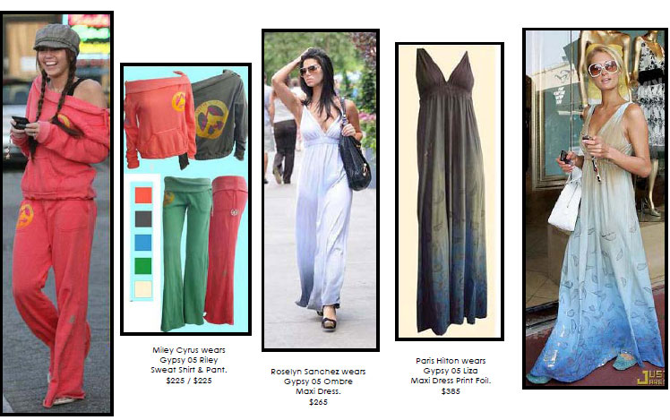 Eco-Savvy Celebrities Stepping Out in Gypsy 05. In stores now.