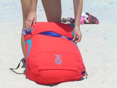 Sand Wedge Beach Bean Bag Chair Sun Lounge And Beach Bag