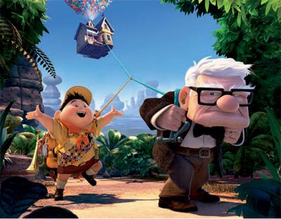 pixar up doug. goes into a Pixar project