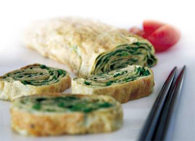 Japanese style rolled omelet
