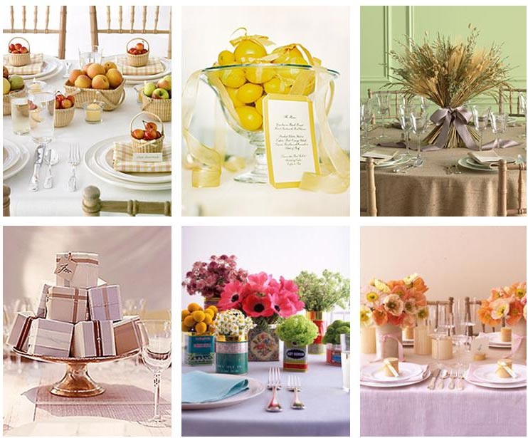 Martha Stewart Wedding Gift Ideas: Table Centre Idea Inspiration