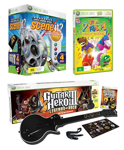 Xbox 360 Games For Girls : Xbox christmas party pack including scene it viva