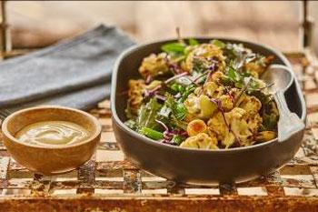 Roasted Cauliflower and Macadamia Salad