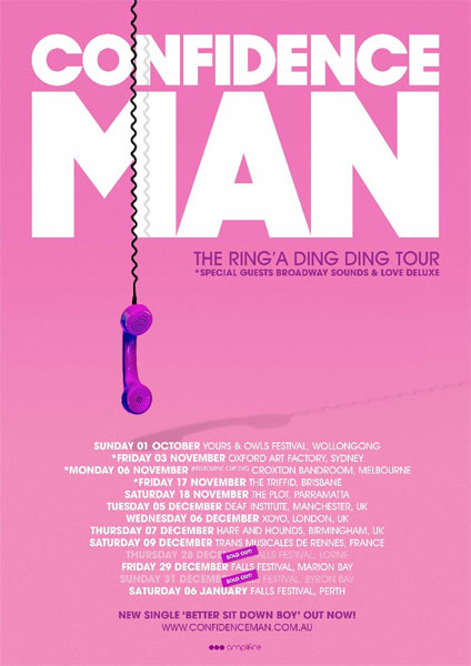 Confidence Man Ring A Ding Ding Tour  November